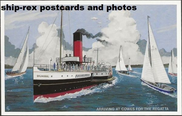 BALMORAL (1899, Red Funnel) postcard